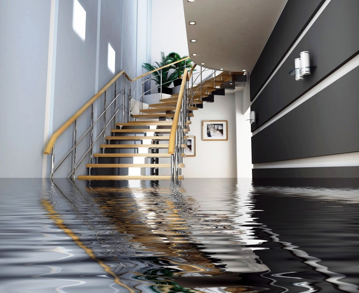 water damaged home in orange county