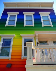 Multicolor Rainbow House