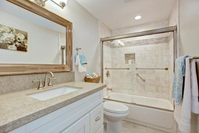Remodeled Master Bath in Laguna Woods Home.