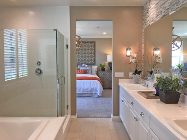 Master Bedroom and Bathroom Oakmont Plan 1 Beacon Park Irvine