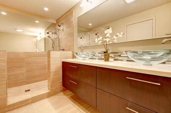 Modern, sleek master bath remodel.