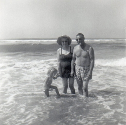 Here I am with my grandparents at Huntington Beach in the early 1960's.