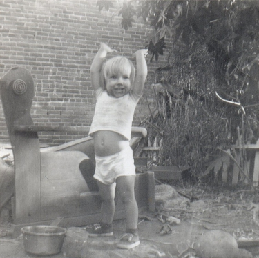 This is me at our home in Los Angeles in 1961.