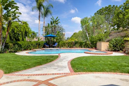 Awesome Pool and Spa Located at the Back of the Lot