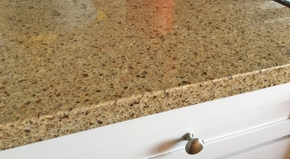 Close Up of Quartz Counter Top in Kitchen