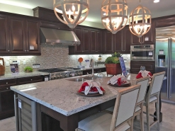 Model Home with Granite Counter Tops in Kitchen