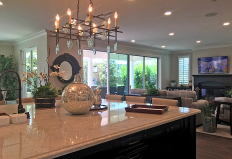 Model Home with Quartz Counter Tops in Kitchen