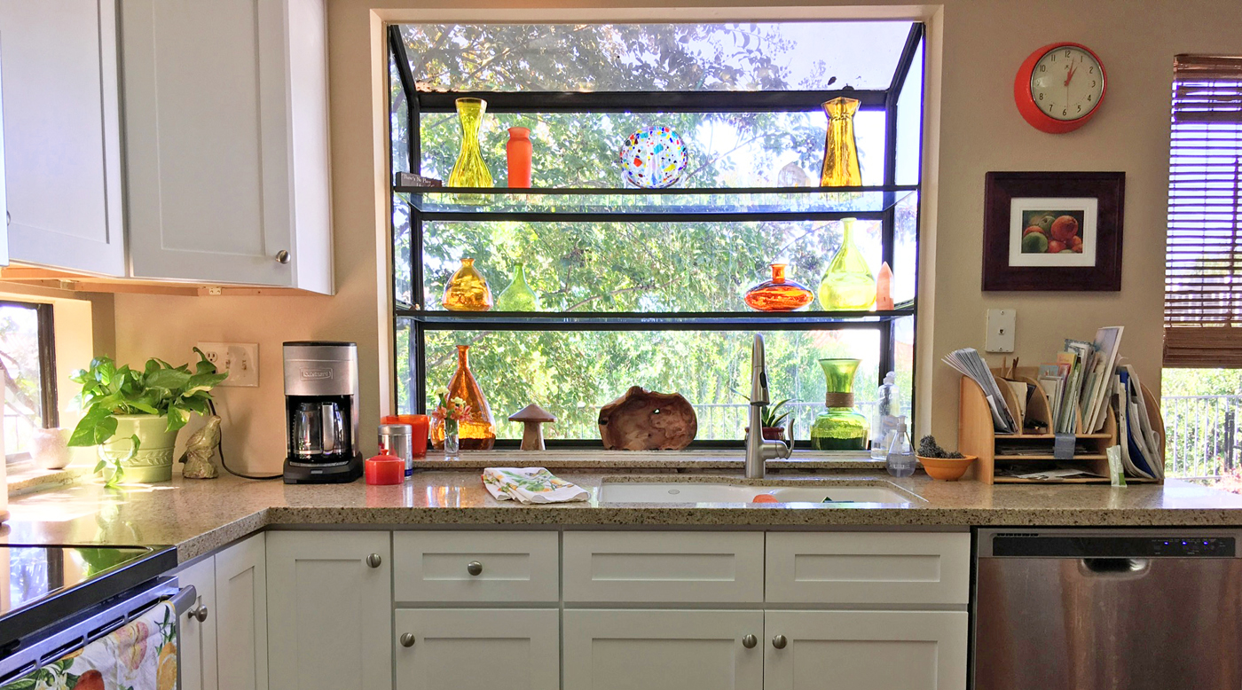 Art Glass in the Kitchen