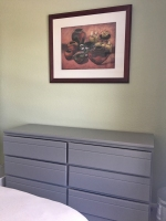 Finished Dresser Against New Wall Color